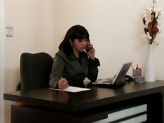 Office Run With Mika Tan. Fucking In A Sexy Sheer Blouse.